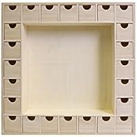 Artemio Calendrier de l'avent en bois, forme carrée