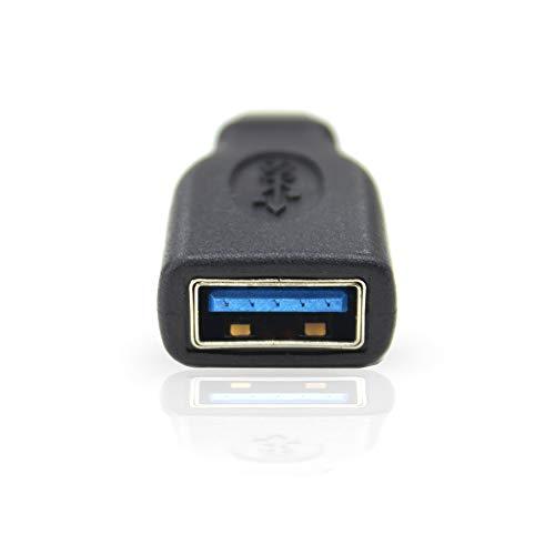 USB C Adapter auf USB 3.0 A mit OTG für Type C Geräte inklusive dem MacBook Pro 2017/2016, Google Chromebook Pixelbook, Samsung Galaxy S9 S8 S8+ Note8, Google Pixel 2/2XL, Nokia N1 Tablet usw. von Weiss - More Power +