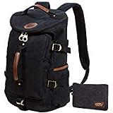 KAUKKO Canvas Rucksack Backpacks Oudoor Hiking Camping Hunting Travel Military Backpacks Schultertasche