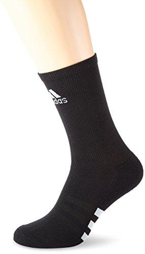 Adidas Single Crew- Basic Calze da uomo, Uomo, Socken Single Crew- Basic, bianco Nero - black/stone