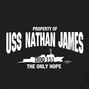 Nathan USS James Beutel Stofftasche Weiß wfxqPAzx