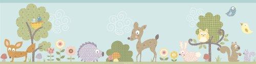 Jomoval Room Mates Frise murale Enfant Animaux de la forêt