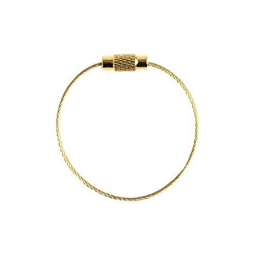 Porte-clés Raccords métalliques 10 pièces Longueur 13cm or