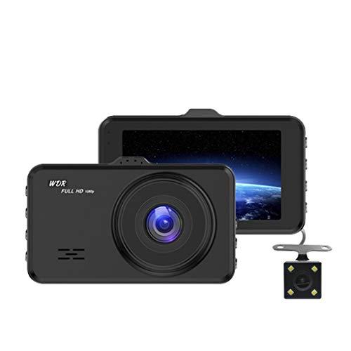 SAN_R HD 1080P Front- und Heck-Doppelobjektiv-Fahrschreiber 3,0-Zoll-IPS-Display zur Überwachung von Parkvideos