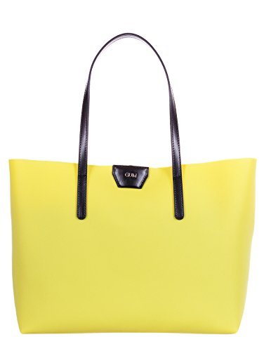 GUM BY GIANNI CHIARINI BORSA SHOPPING GRANDE LATTICE LEMON