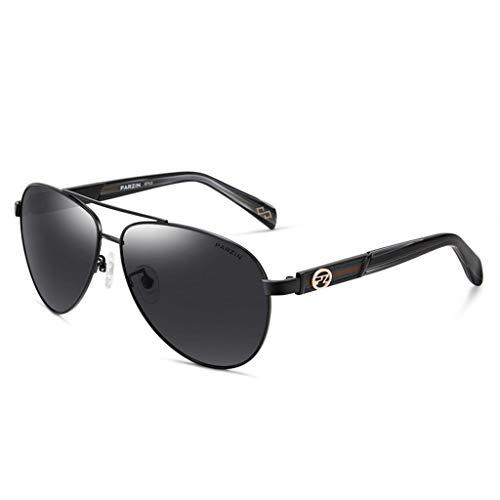 WHQ Sonnenbrille Herren Men's Rechteckige Sonnenbrille aus polarisiertem Metall mit UV-Schutz QD (Color : A)