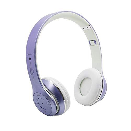Écouteurs S460 Pliable sans Fil Bluetooth 4 0 Casque Sport Stereo Écouteur FM Radio Casque De Jeu avec Micro pour Pc Mobile Téléphone Mp3 Pourpre