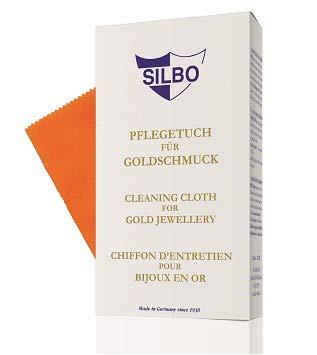 Silbo Pflegetuch für Goldschmuck - Cleansing cloth for Gold Jewellery 30 x 24 cm 1 Stück