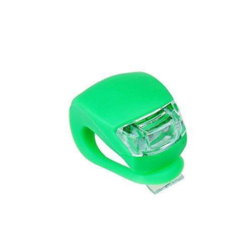 kanglo Vert Silicone Lot de 2 Vélo vélo arrière Lampe de poche LED