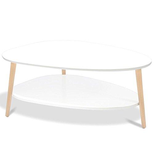 IDMarket - Table Basse gigogne Elsie laquée Blanc