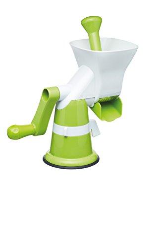 Kitchencraft Manual de alimentación Saludable puré máquina/bebé alimentación eléctrica–Color Blanco/Verde