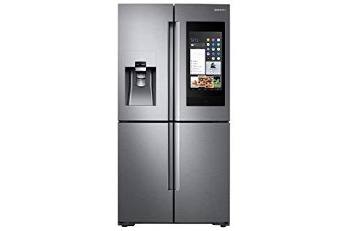 Samsung Family Hub AKG RF56N9740SR/EF Side-by-Side/A+/182,5 cm/445 kWh/Jahr/351 L Kühlteil/199 L Gefrierteil/AKG Lautsprecher/21,5 Zoll Touchscreen [Energieklasse A+]