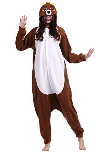 Unisex Animal Pijama Ropa de Dormir Cosplay Kigurumi Onesie Topo Disfraz para Adulto Entre 1,40 y 1,87 m
