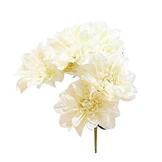 Ruiboury 6 Jefe de la Dalia de Las Flores Artificiales Falso Boda del Ramo Floral Glorioso Decal decoración del hogar
