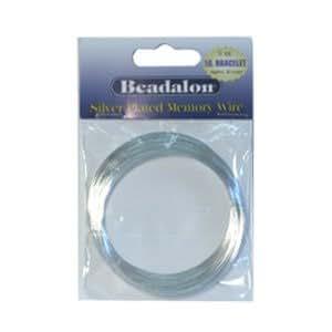 Beadalon - Fil Memoire Bracelet Métal Plaqué Argent (1)