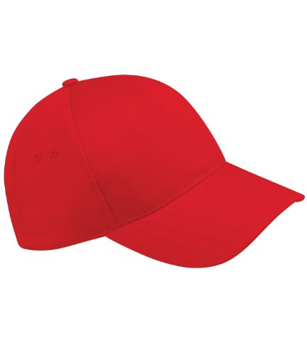 Beechfield BC015 Ultimate 5 Panel Cap - Classic Red - One Size
