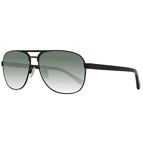 Occhiali da sole polarizzati timberland tb9100 c60 02r (matte black / green polarized)