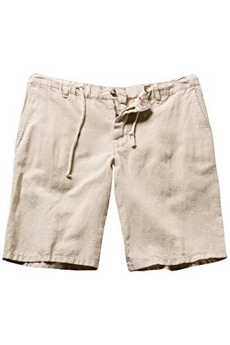 JP 1880 Herren große Größen bis 70, Bermuda, Kurze Hose, Shorts aus Leinenmix, 4-Pocket-Form, Sand 68 714413 22-68 (Pocket-größe)