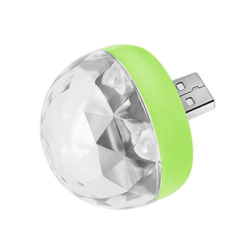 WEIHUIMEI 1PC Kompatibel mit USB-Mini-Stage-DJ-Licht-Disco-Ball-Lampen für Typ-C-Android-iPhone-Adapter Size for Type-c (Green Bulb)