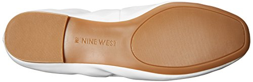 Nine West Girlsnite Ballet Synthetic Flat white