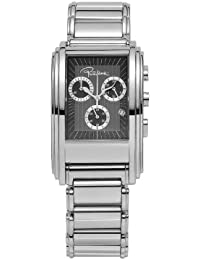 Roberto Cavalli Men's Eson Chronograph Watch R7253955025 with Quartz Movement, Stainless Steel Bracelet and Black Dial