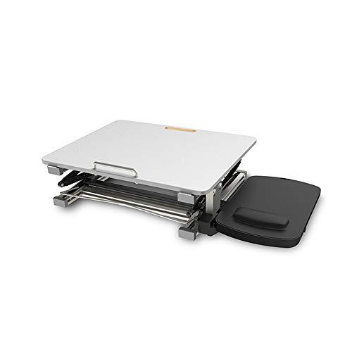 Zxwzzz Tische Der Steh-Computer-Schreibtisch kann mit einem Klapptisch für einen Notebook-Standfuß angehoben und abgesenkt Werden (Color : White) - Computer-schreibtisch Komponenten