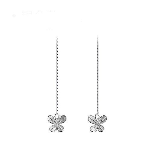 Bringen Sie Retro Filter Literarische Mädchen Schmetterling Nette S925 Silber Ohr Linie Kleine Frische Ohrringe Weiblich -