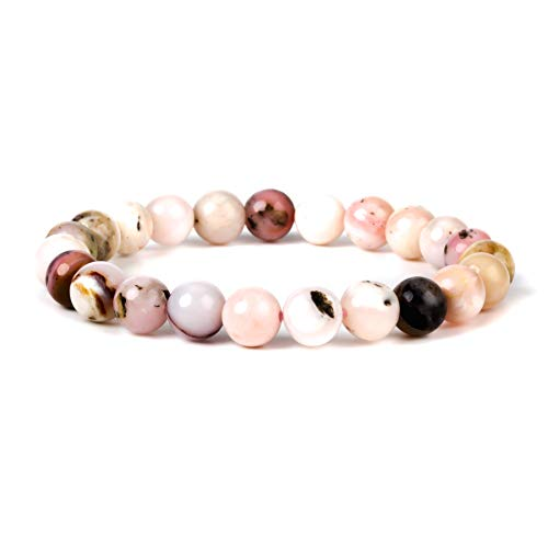 J.Fée Damen Armbänder Perlen Armband,Opal Armband,Unisex Armband,Rosa Armband,Kristall Perlen Armband,Armbänder für Frauen Damen,Geschenk für Jubiläum,Geburtstag, Abschluss,Urlaub,Weihnachtstag