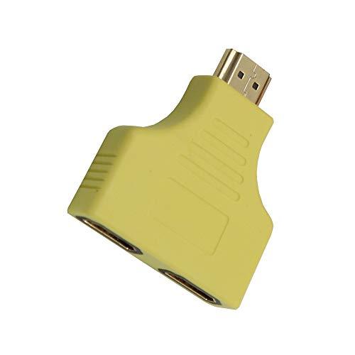 Shuzhen,1080P HDMI-Port-Stecker auf 2 Buchse 1 in 2 Splitter Kabel Adapter Konverter(Color:GELB)