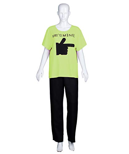 343538d4a3 Adult Women's Valentine's Day Matching Couple He's Mine Lime T-Shirt ...