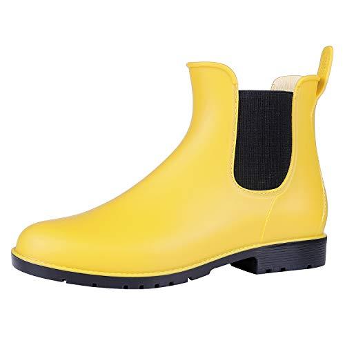 gen Stiefel Wasserdichte Knöchel Chelsea Booties, Gelb, 43 EU ()