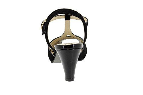 Komfort Damenlederschuh Piesant 6258 sandale pumps schuhe bequem breit Negro/Charol