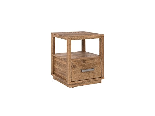 Woodkings Nachttisch Woodville Eiche rustikal braun Schlafzimmer Massivholz Beistelltisch Nachtkommode Design massive Naturmöbel Echtholzmöbel günstig