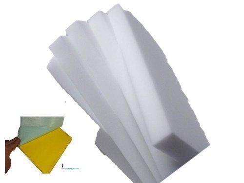 JUMBO Weiss, 15 tlg Set der Wunderschwamm Schmutzradierer 10 Schwamm XXL Blöcke + 2 blaue Streifenfreitücher von Dupont + 3 Gelbe Putztücher