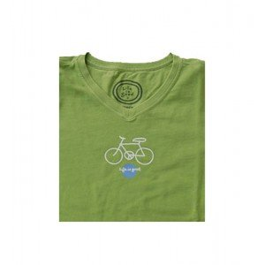 life-is-good-tee-shirt-wmns-sugar-vee-peace-bicycle-spring-couleur-vert-taille-m