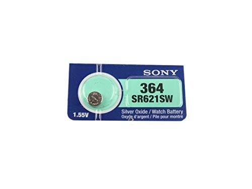 5x Sony 364SR621SW Silberoxid, 0% Quecksilber, Uhren-Batterien, 5Stück