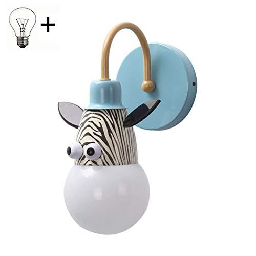 Modern Innen LED Wandleuchte Kreative Karikatur Design Kinder Wandlampe für Junge Mädchen Zimmer Kinderzimmer Schlafzimmer Wohnzimmer Dekorative Beleuchtung Klein Nachtlicht E27 Fassung,Blue