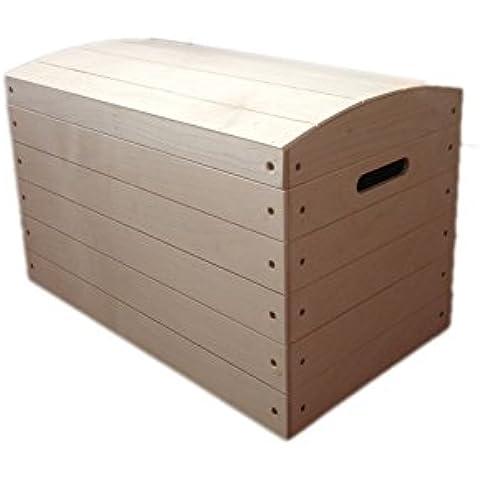 Gran Cofre Pirata De Madera No Pintado Caja Juego Maletero Almacenaje No Terminada Juego Caja - 50x 27x 35.5cm