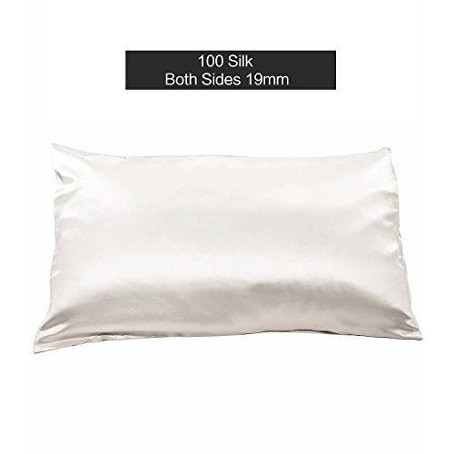 19 Momme 100% Reine Natürliche Maulbeerseide Kissenbezug für Haar & Gesichts Schönheit mit Reißverschluss Königin Größe 20