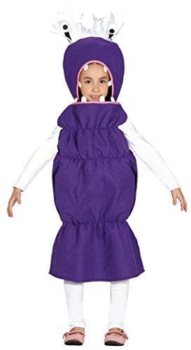 (Mädchen Jungen Kinder Lila Monster Wurm Lizard Randall TV Film Kostüm Kleid Outfit - Lila, 5-6 Years)