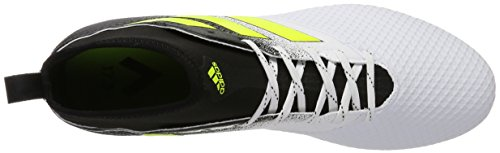 adidas Ace 17.3 FG, Chaussures de Football Entrainement Homme Blanc (Footwear White/Solar Yellow/Core Black)