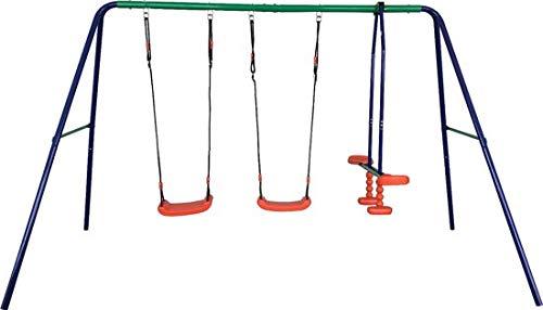Maxx Schaukel - Gartenschaukel für Kinder - stabile Schaukel mit insgesamt DREI Schaukelsitzen - mit Brettschaukel und Gondel - Qualität