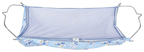 Multipro Soft Cloth Swing New Born Baby Cradle / Ghodiyu Hammock in Cool Cotton With Net, Blue  available at amazon for Rs.529