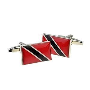 Ashton and Finch Manschettenknöpfe Trinidad und Tobago Flagge