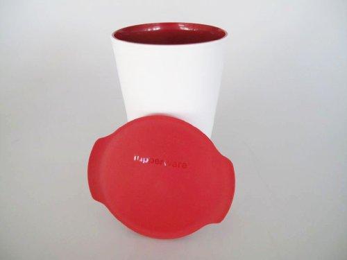 TUPPERWARE Allegra Cup 450 ml rot Becher Getränkebecher Trinkbecher