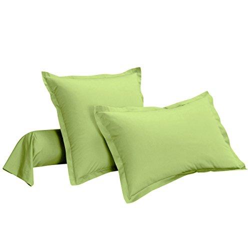Taie d'oreiller 100% coton Uni 50 x 70 cm Vert