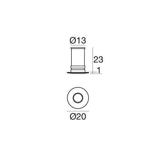 85002R30 - FARETTO ASPHO TONDO 1LED 5mm NICHEL SP 0.5 W - LINEA LIGHT