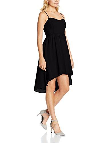 Intimuse Damen Kleid mit Spaghettiträgern, Schwarz (Schwarz 001), 36