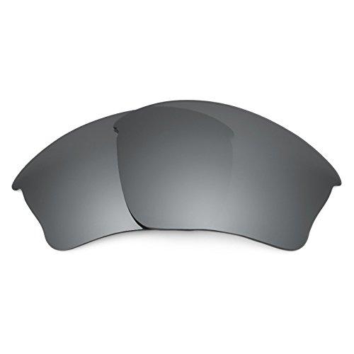 Revant Ersatzlinsen für Oakley Half Jacket XLJ Polarisierung Elite Schwarz Chrom MirrorShield® Schwarz Half Jacket