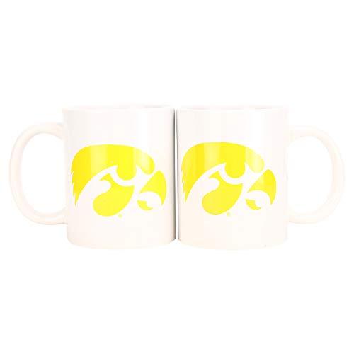 Boelter NCAA Collegiate Kaffeetasse mit Team-Logo, 340 ml, 2er-Pack, Iowa Hawkeyes, 12 Ounce (Hawkeye-vol 2)
